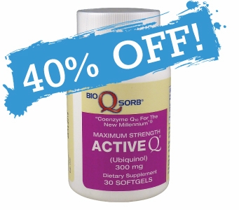 Active-Q Ubiquinol 300mg (30 Softgels) featuring Kaneka Ubiquinol CoQ10