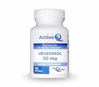 Active-Q Ubiquinol 50mg (100 Softgels) featuring Kaneka Ubiquinol