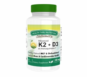 Advanced Vitamin K2 as MK-7 (100mcg) + Vitamin D3 (25 mcg / 1000 IU) 60 Vegecapsules