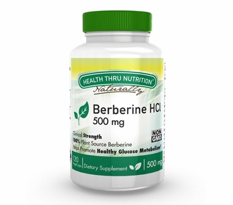 Berberine HCl 500mg (120 Vegecaps)