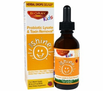 Bioray Kids Shine - Probiotic Lysate & Toxin Removal - Berry Flavor Herbal Drops