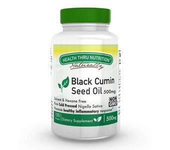 Organic Black Cumin Seed Oil 500mg (100 Softgels)