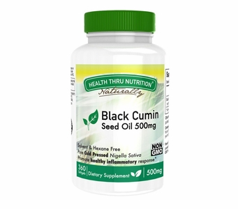 Organic Black Cumin Seed Oil 500mg (360 Softgels)