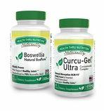 Curcu-Gel 650mg (Soy-Free) (NON-GMO) Curcumin & Bospure Boswellia 300mg (Soy-Free) (NON-GMO) (Two Month Supply)
