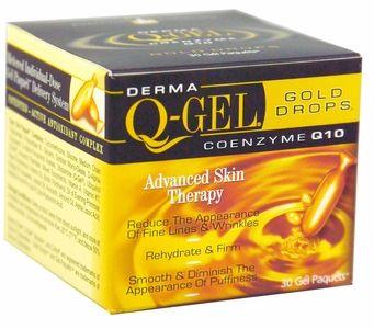 <br>Derma Q-Gel Gold Drops - Skin Energizing  <br> (30 Snipgels)