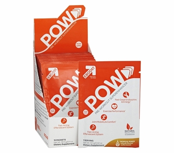 EBOOST POW Pre-Workout Superenhancer - 15 Packets - Tropical Punch Flavor