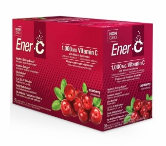 Ener-C 1,000 mg Vitamin C Multi Vitamin Drink Mix - Cranberry Flavor - 30 Packets