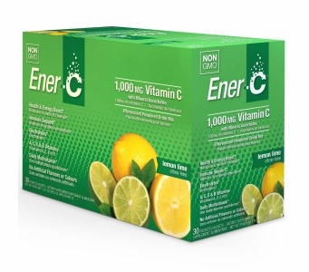 Ener-C 1,000 mg Vitamin C Multi Vitamin Drink Mix - Lemon Lime Flavor - 30 Packets