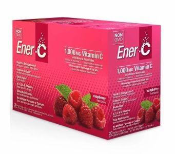 Ener-C 1,000 mg Vitamin C Multi Vitamin Drink Mix - Raspberry Flavor - 30 Packets
