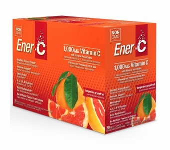 Ener-C 1,000 mg Vitamin C Multi Vitamin Drink Mix - Tangerine Grapefruit Flavor - 30 Packets