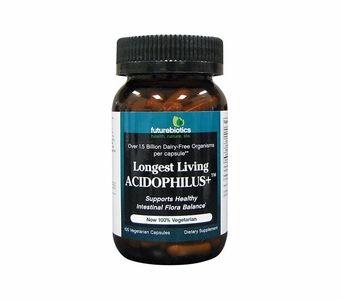 Futurebiotics Longest Living Acidophilus+ - Supports Healthy Intestinal Flora - 100 Vegecapsules