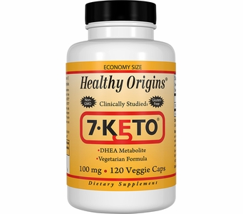 Healthy Origins 7-KETO® 100mg (120 Veggie Caps)