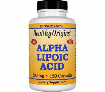 Healthy Origins Alpha Lipoic Acid 600mg (150 Capsules)