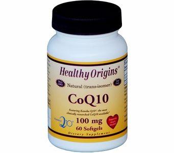 Healthy Origins Natural CoQ10 100mg (60 Softgels)