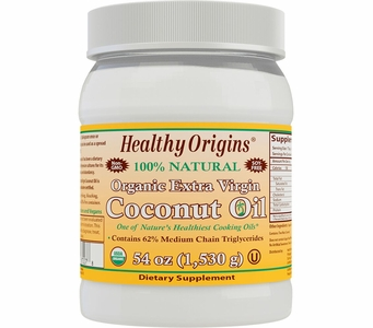 Healthy Origins® Organic Extra Virgin Coconut Oil 54oz (NON-GMO) (Soy Free)