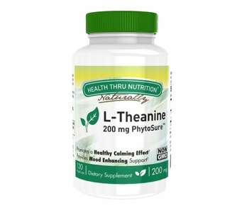 L-Theanine (PhytoSure™ Certified) 200mg NON-GMO (120 Vegecapsules)