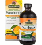 Nature's Answer Sambucus Black Elderberry Extract - Natural Orange Flavor