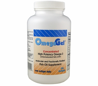 OmegaGel<br>Highly Purified Omega-3<br>180 Count