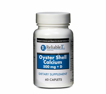 Oyster Shell Calcium 500mg + D <br>(60 Caplets)