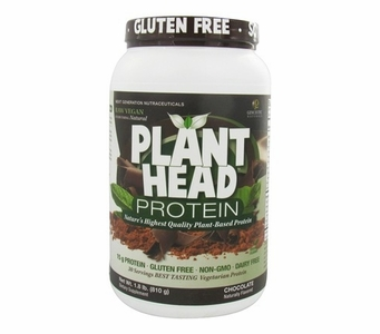 Plant Head Chocolate Protein Powder * Naturally Flavored * Gluten Free * Soy Free * Dairy Free - 1.8 lb (810 g)
