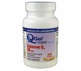 Q-Gel Forte Mini 30mg<br>Hydrosoluble CoQ10<br>240 Softgels