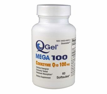 Q-Gel Mega 100mg<br>Hydrosoluble CoQ10<br>60 Softgels