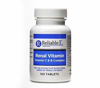 Renal Vitamin (Vitamin C & B Complex) (100 Tablets)