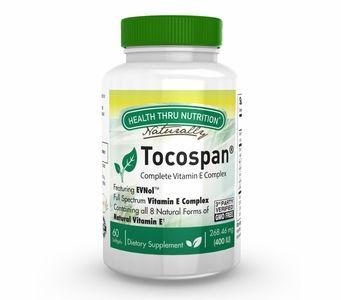 Tocospan® Complete Vitamin E Complex 400IU (60 Softgels) (NON-GMO)