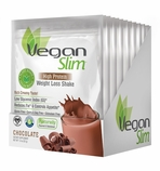VeganSlim High Protein Weight Control Shake (Chocolate / 12 Packets)