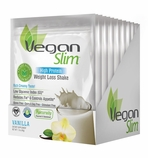 VeganSlim High Protein Weight Control Shake (Vanilla / 12 Packets)