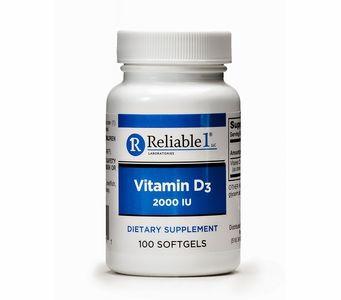 Vitamin D3 (2000 IU) (100 Softgels)