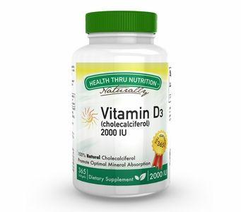 Vitamin D3 50mcg / 2,000 IU (365 Softgels) (Soy-Free) (NON-GMO)