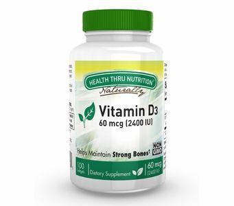 Vitamin D3 60mcg / 2,400 IU (100 Softgels) (Soy-Free) (NON-GMO)