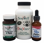 Complete Dog Care Combo (Liquid CoQ10 for Pets, Probiotics4Pets & Dog Vites)