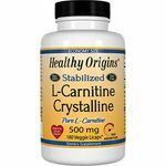 Healthy Origins Stabilized L-Carnitine Crystalline 500mg 180 Veggie Licaps® (Soy-Free, Gluten Free & NON-GMO)