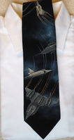 Jet Airplane Silk Necktie