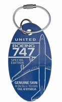 United B 747 Stratolauncher Airplane Tags