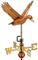 Flying Duck Weathervane, Garden Size