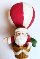 Santa in Hot Air Balloon Ornament