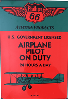 Airplane Pilot on Duty Sign