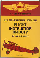 Flight Instructor on Duty Sign