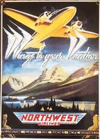 Northwest Airlines Porcelain Sign