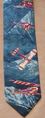 Mountain Flight Airplane Tie