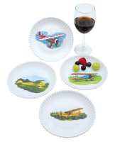 Airplane Plates | Set of 4