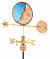Stained Glass Moon Weather Vane