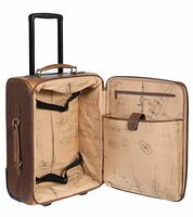 Wheeled Leather Carry-On Travel Bag
