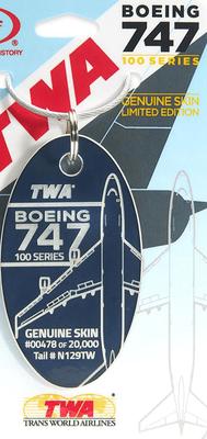 TWA 747-100 Airplane Skin Relic