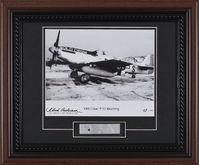 P-51 Mustang Old Crow Photo Autographed & Skin Relic