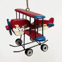 Red Skiplane Ornament