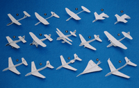 Whitewings Paper Airplanes Kit | Passenger Planes